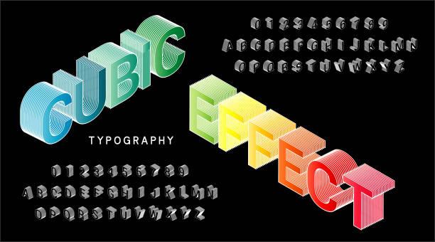 ilustraciones, imágenes clip art, dibujos animados e iconos de stock de alfabeto de fuentes - tipos de letra y tipografía