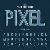font and alphabetical vector on background, letter and text graphic art design.