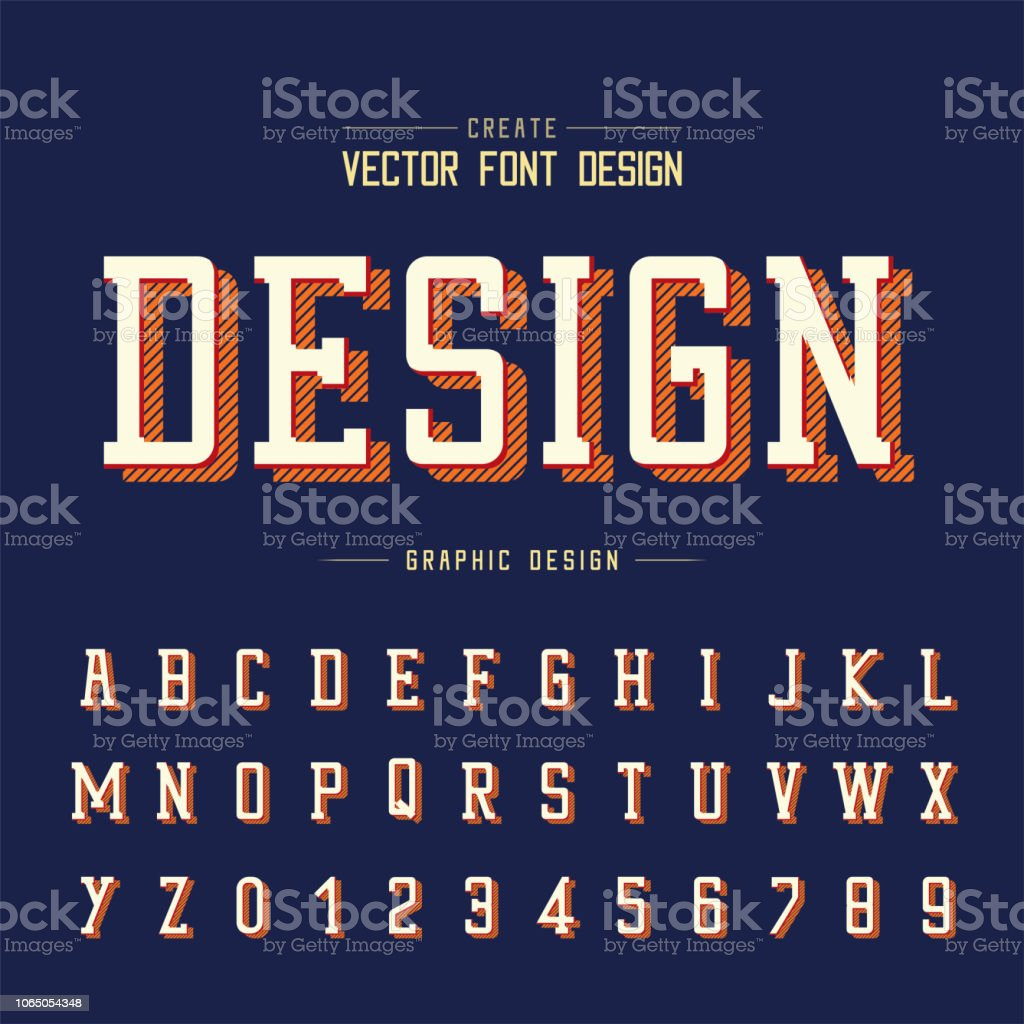 Ilustração de Fonte E Alfabeto Vector Estilo Typeface E Projeto