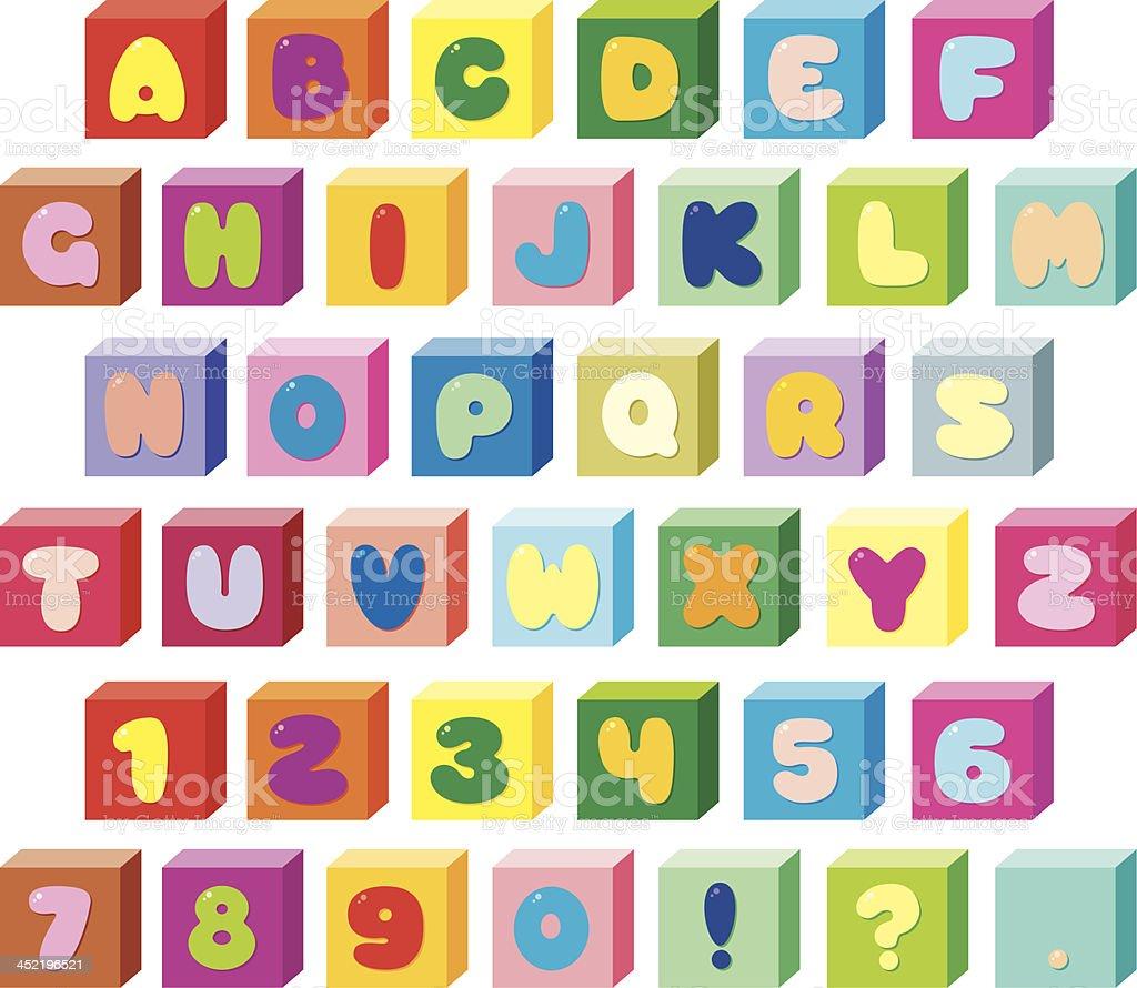 Font Bricks royalty-free stock vector art
