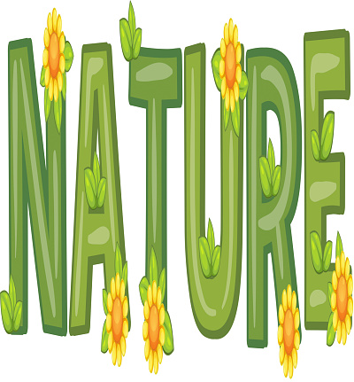 Font design with word nature