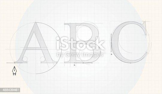 istock Font designing 455439461