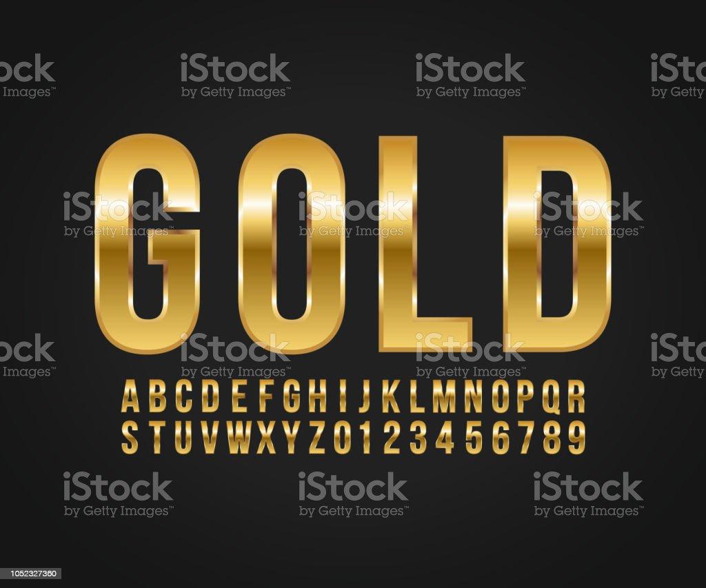 Vector de oro efecto fuente ilustración de vector de oro efecto fuente y más vectores libres de derechos de a la moda libre de derechos