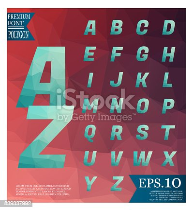 867870340istockphoto Font lowpoly on abstract background low poly textured triangle shapes in random pattern design 839337992