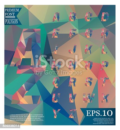 867870340istockphoto Font lowpoly on abstract background low poly textured triangle shapes in random pattern design 839338014