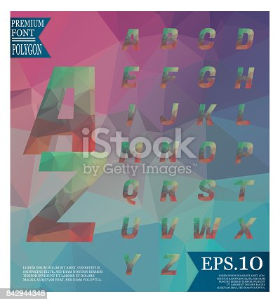 867870340istockphoto Font lowpoly on abstract background low poly textured triangle shapes in random pattern design 842944348