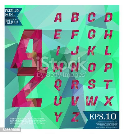 867870340istockphoto Font lowpoly on abstract background low poly textured triangle shapes in random pattern design 853625988