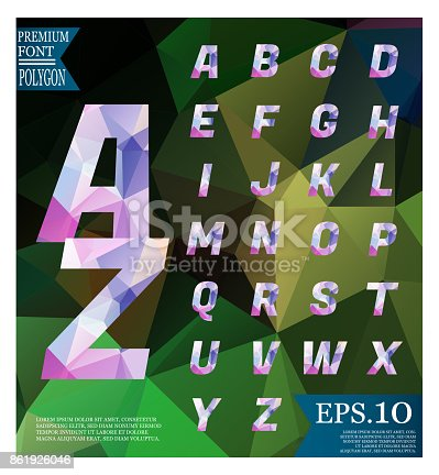 867870340istockphoto Font lowpoly on abstract background low poly textured triangle shapes in random pattern design 861926046