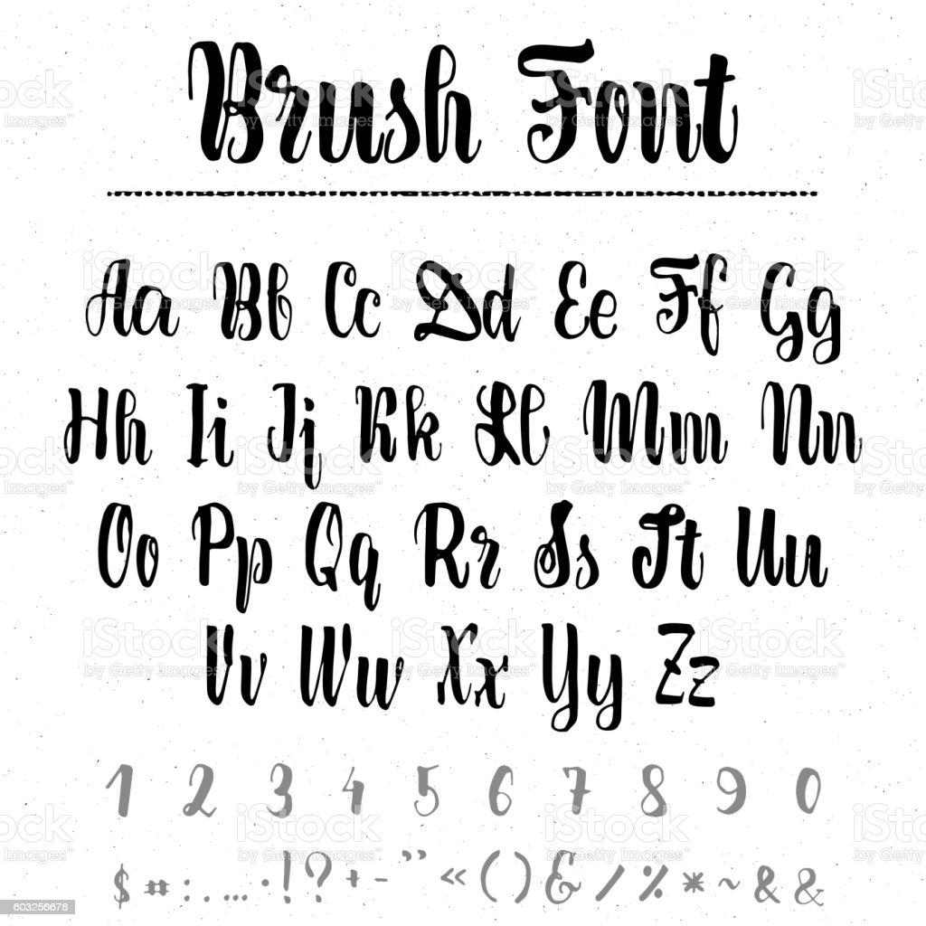 Font Merry Christmas - handwriting brush. It can be used vector art illustration