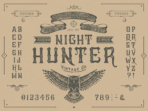 Font Miracle. Craft retro vintage typeface design