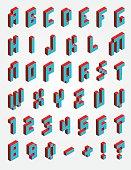 Font Pixel isometric