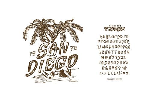 Font San Diego.