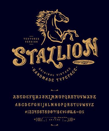 Font Stallion. Vintage typeface design