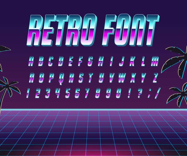 フォント スタイルの 80 年代。 - バブルのフォント点のイラスト素材/クリップアート素材/マンガ素材/アイコン素材
