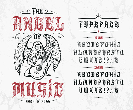 Font The Angel of Music.