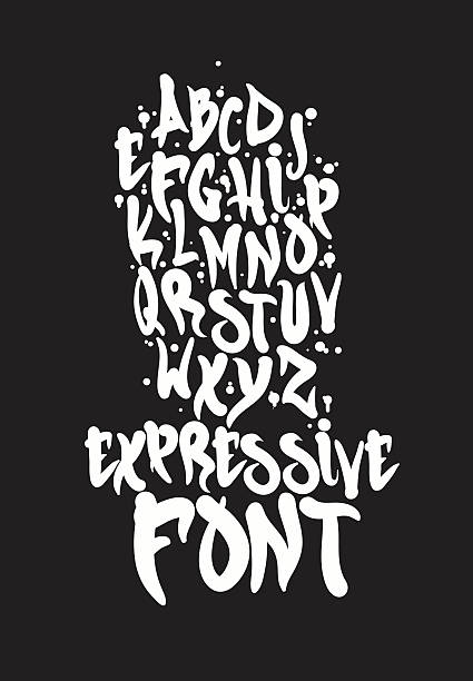 font - graffiti fonts stock illustrations, clip art, cartoons, & icons