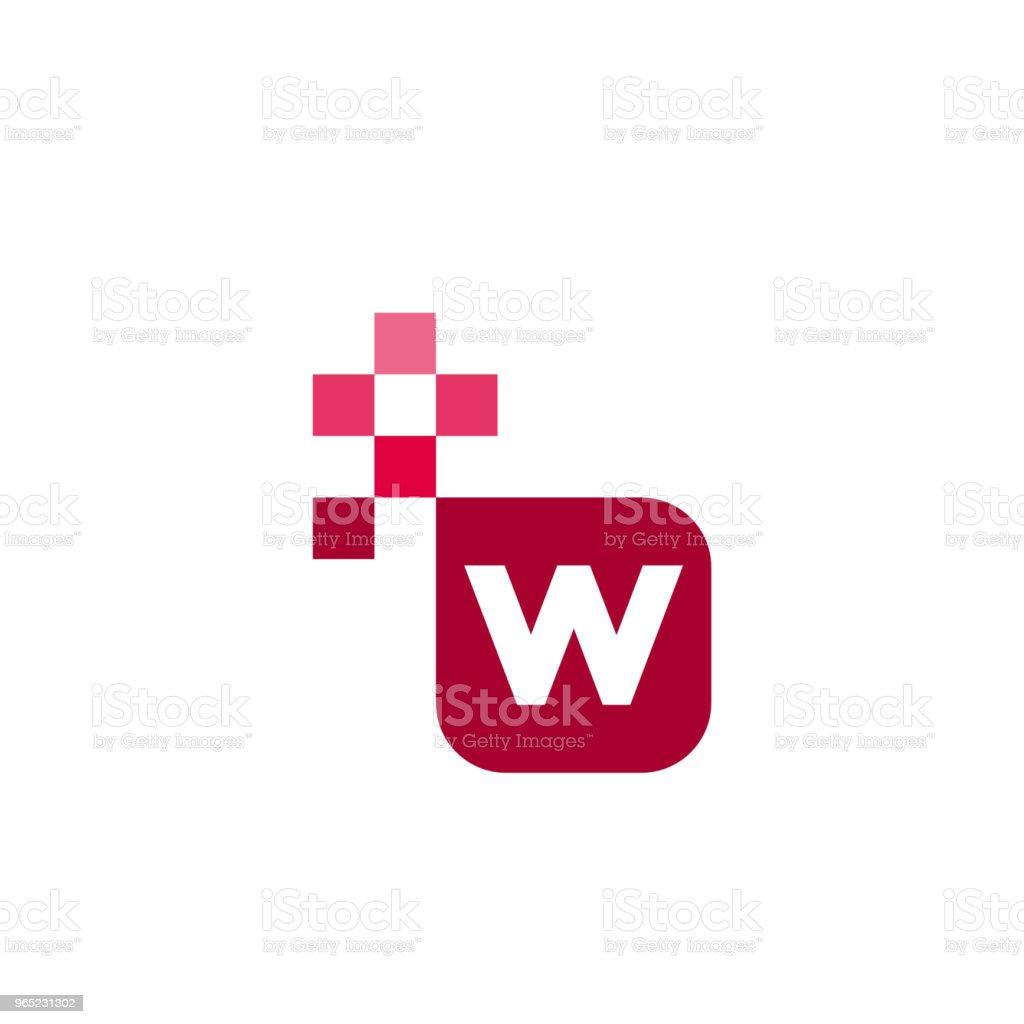 W Font Vector Template Design w font vector template design - stockowe grafiki wektorowe i więcej obrazów abstrakcja royalty-free