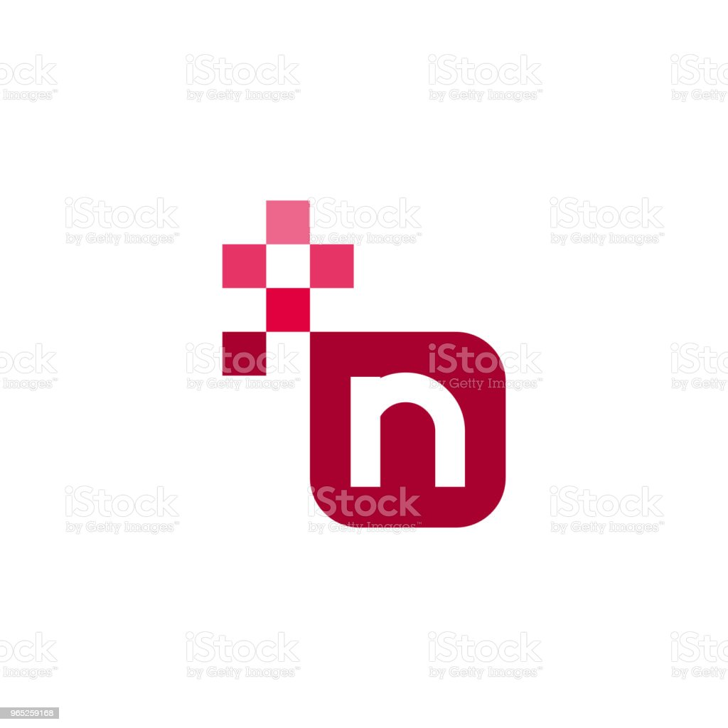 N Font Vector Template Design n font vector template design - stockowe grafiki wektorowe i więcej obrazów abstrakcja royalty-free