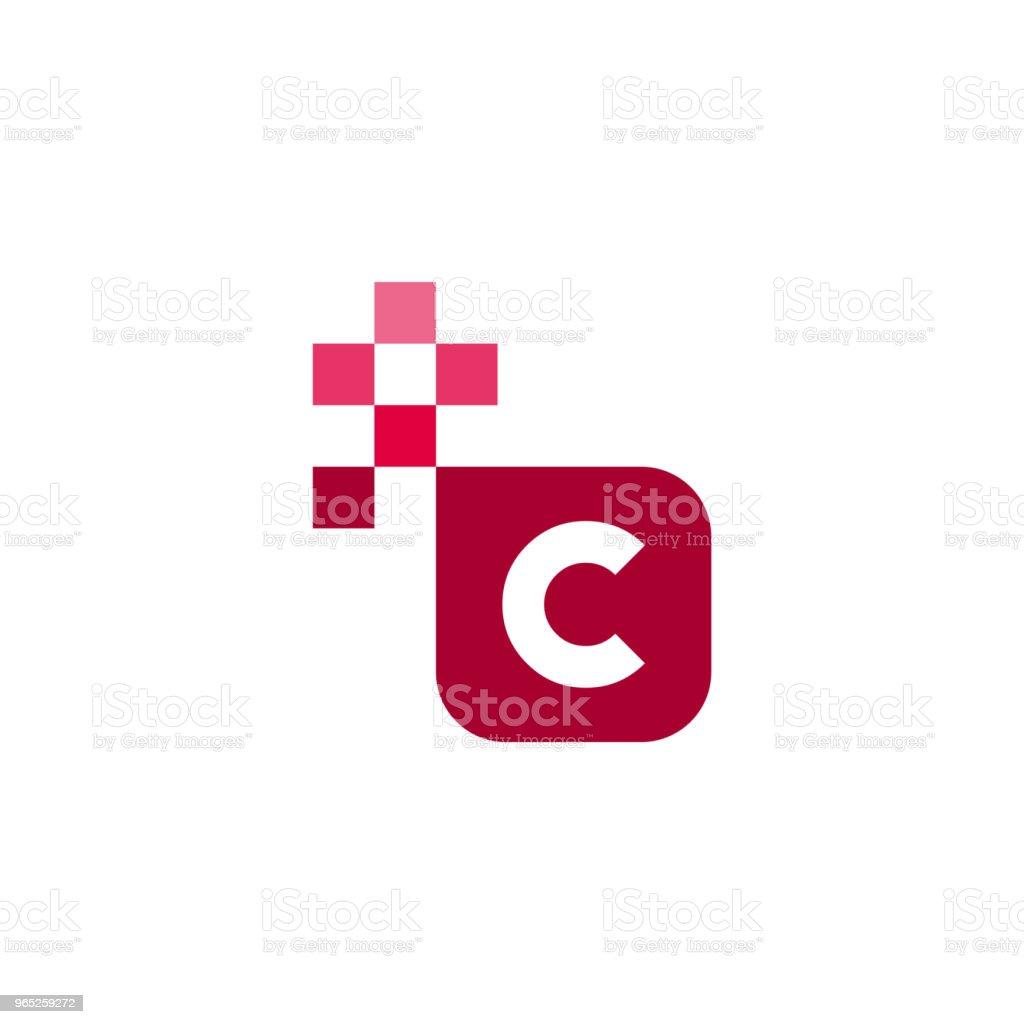 C Font Vector Template Design c font vector template design - stockowe grafiki wektorowe i więcej obrazów abstrakcja royalty-free