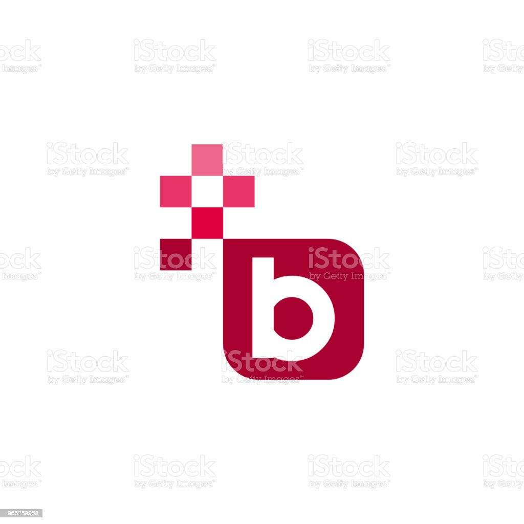 B Font Vector Template Design royalty-free b font vector template design stock illustration - download image now