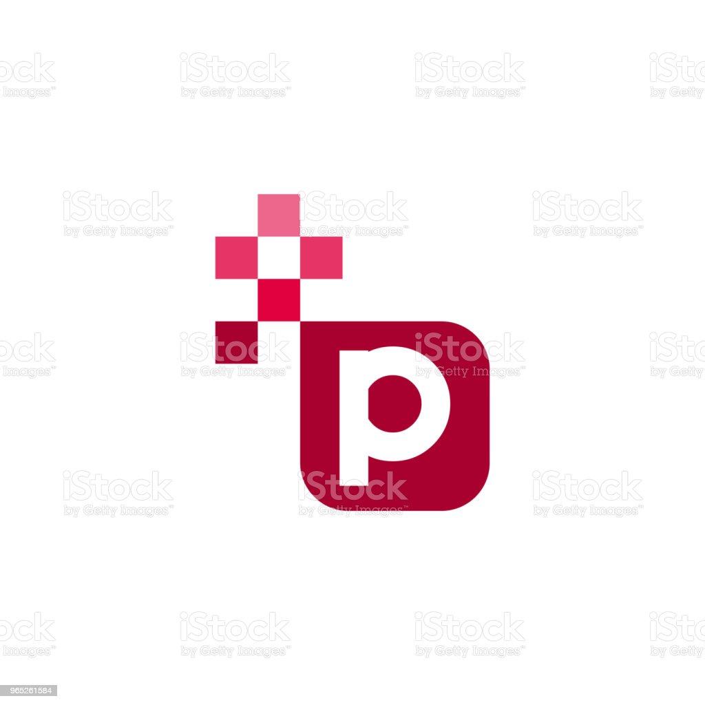 P Font Vector Template Design royalty-free p font vector template design stock vector art & more images of abstract