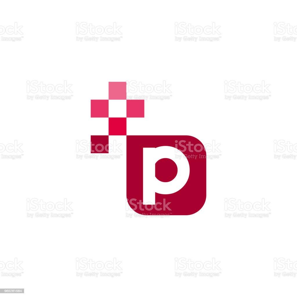 P Font Vector Template Design p font vector template design - stockowe grafiki wektorowe i więcej obrazów abstrakcja royalty-free
