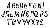 Font with spiders on the web
