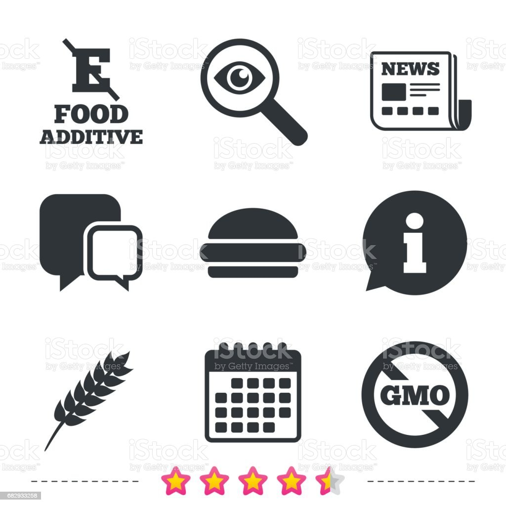 Food additive icon. Hamburger fast food sign. royalty-free food additive icon hamburger fast food sign stock vector art & more images of allergy