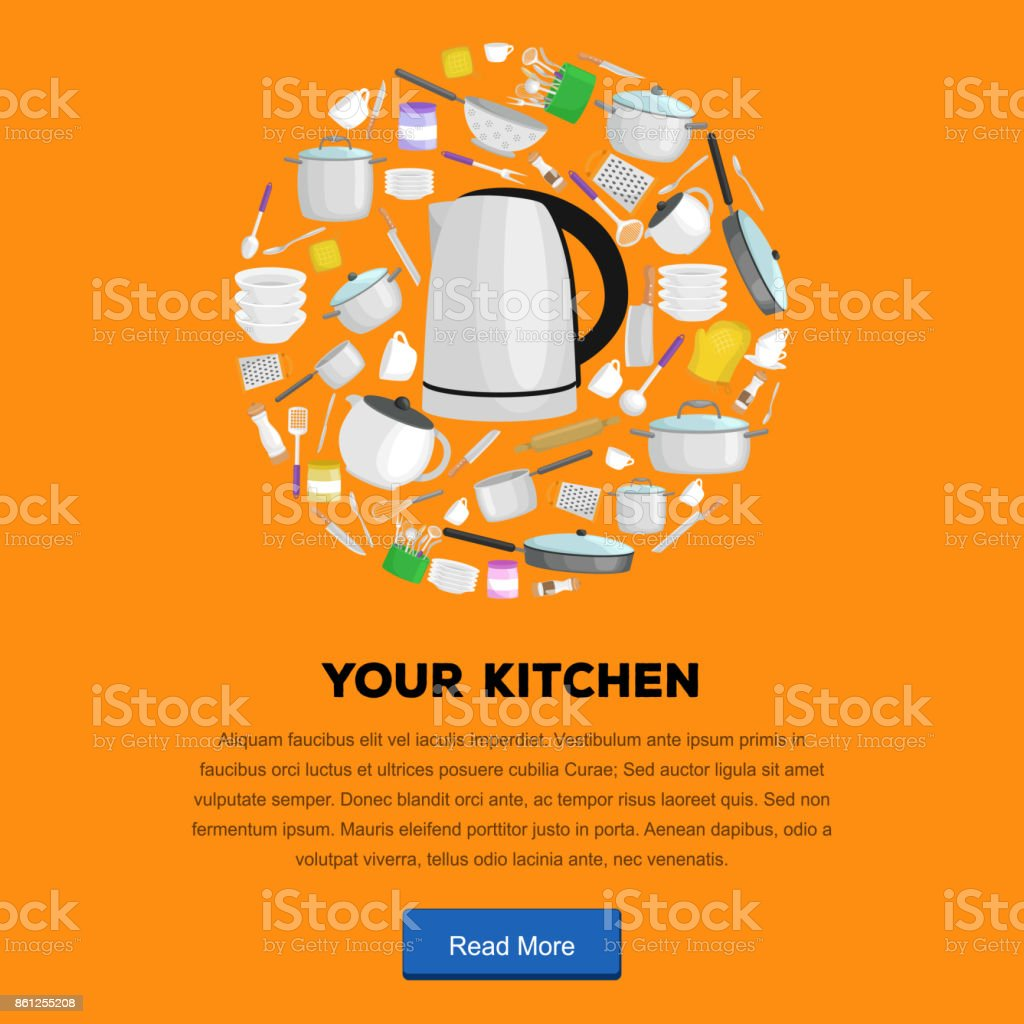 Food And Cooking Banner Set With Kitchenware Utensils Kitchen Of Tools For Cook Or Meals Vector Illustration Isolated Utensil Background Equipment Domesti Stock Illustration Download Image Now Istock
