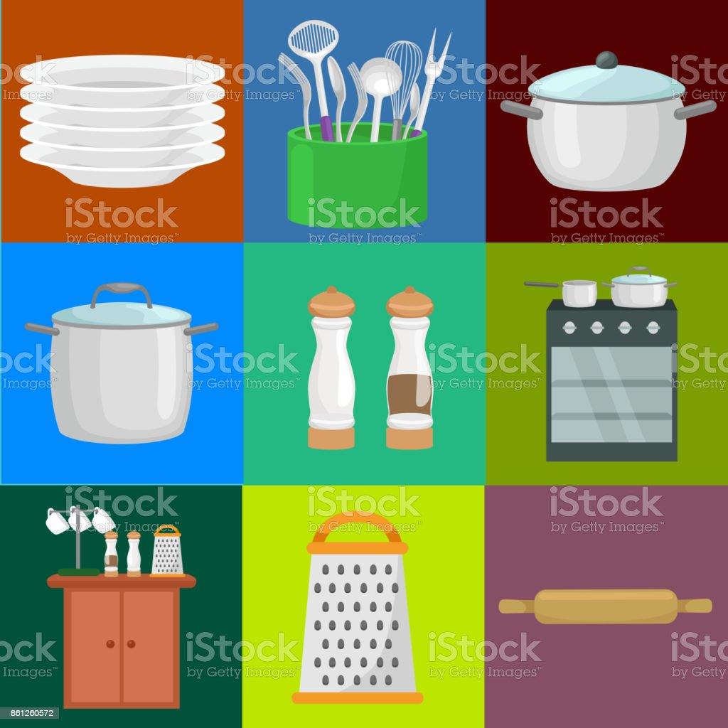 Alimentos y banner cocinar con utensilios de cocina cocina for Herramientas para cocina