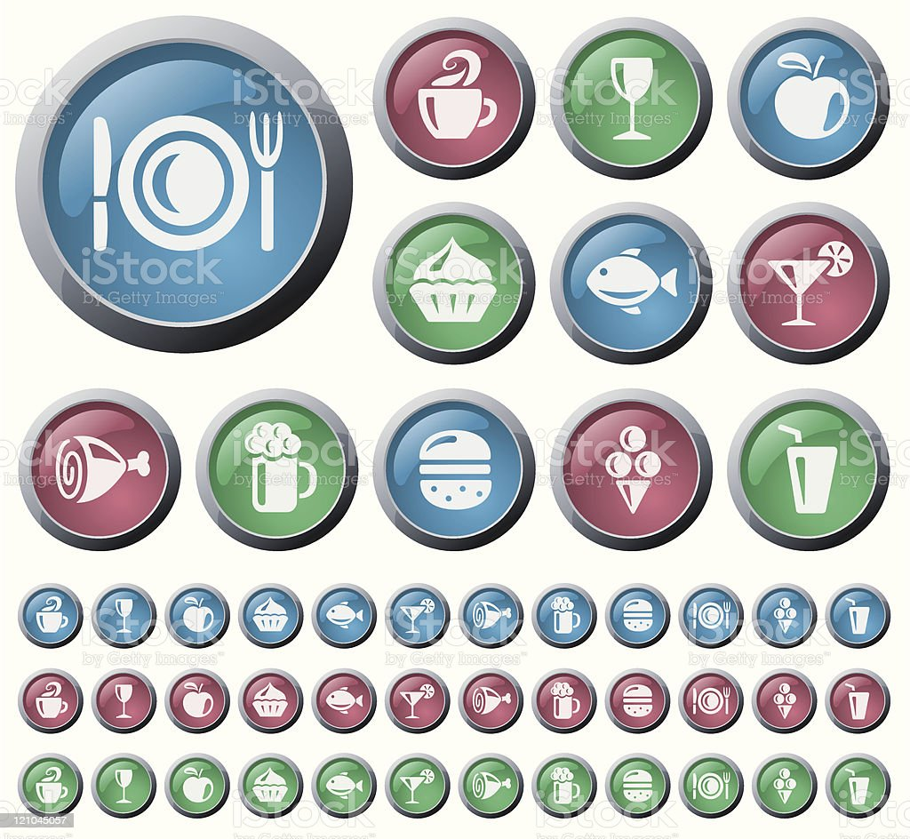 Food and drink buttons royalty-free food and drink buttons stock vector art & more images of alcohol