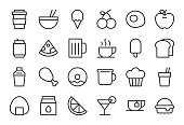 Food and Drink Icon Set 1 - Light Line Series