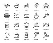 Food and Drink Icon Set - Thin Line Series