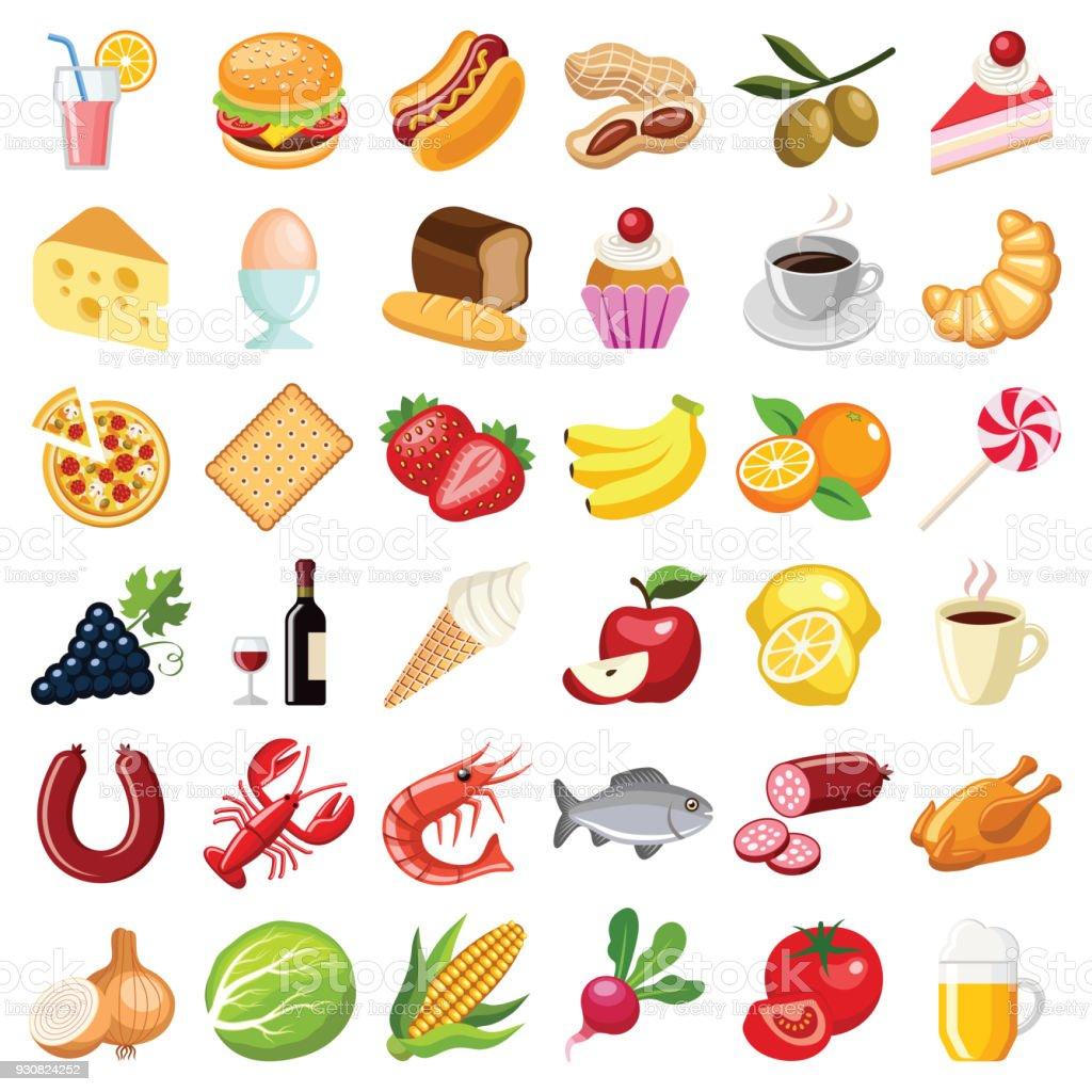 食べ物や飲み物のアイコン アイコンのベクターアート素材や画像を多数