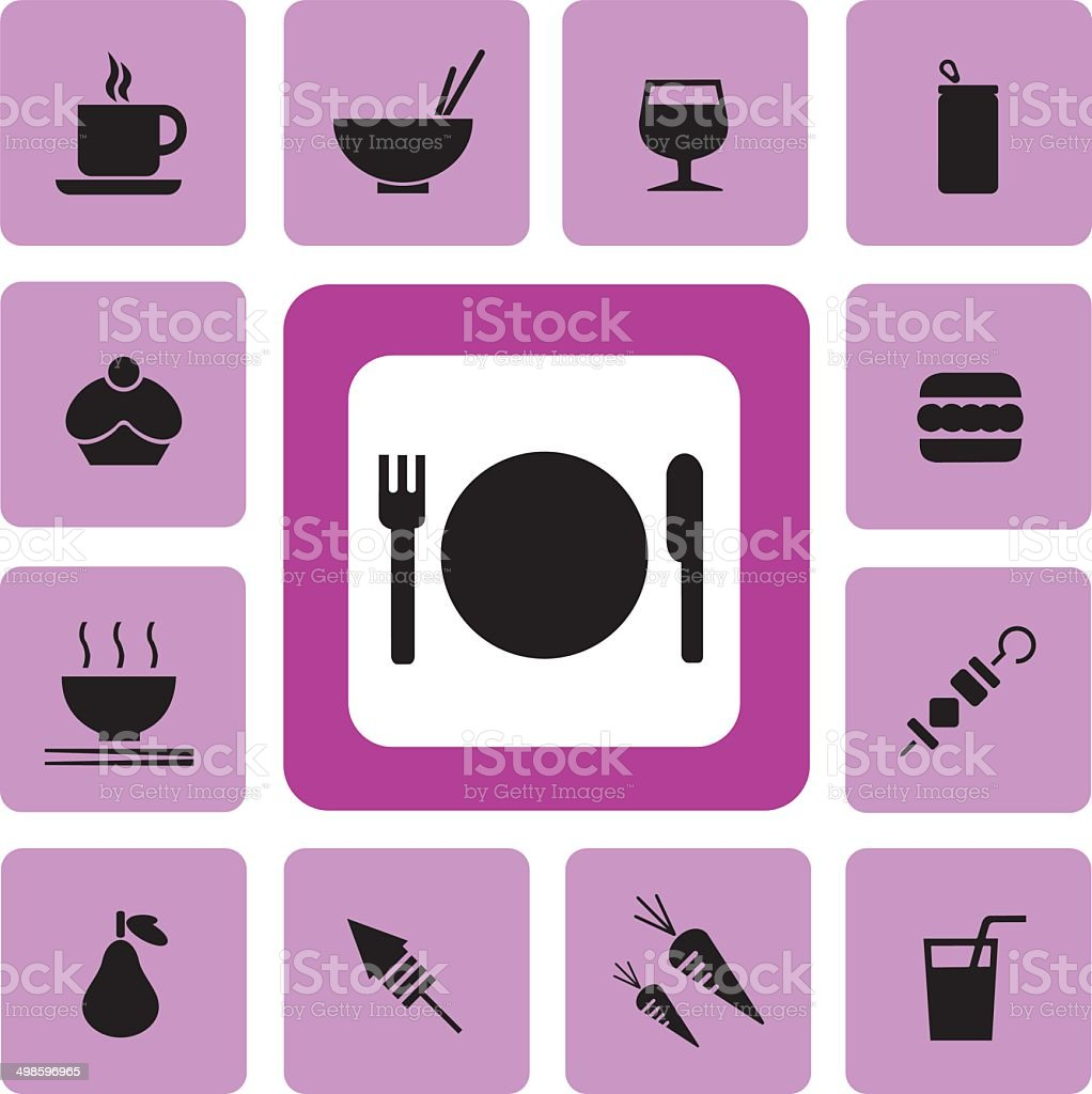 food and drink Icon2 vector art illustration