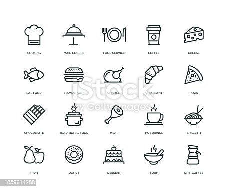 Food and Drink Icons - Line Series