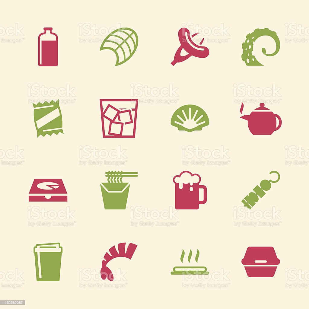 Food and Drink Icons Set 4 - Color Series royalty-free stock vector art