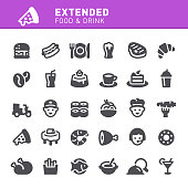 Food, restaurant, drink, fast food, icon, icon set, food delivery