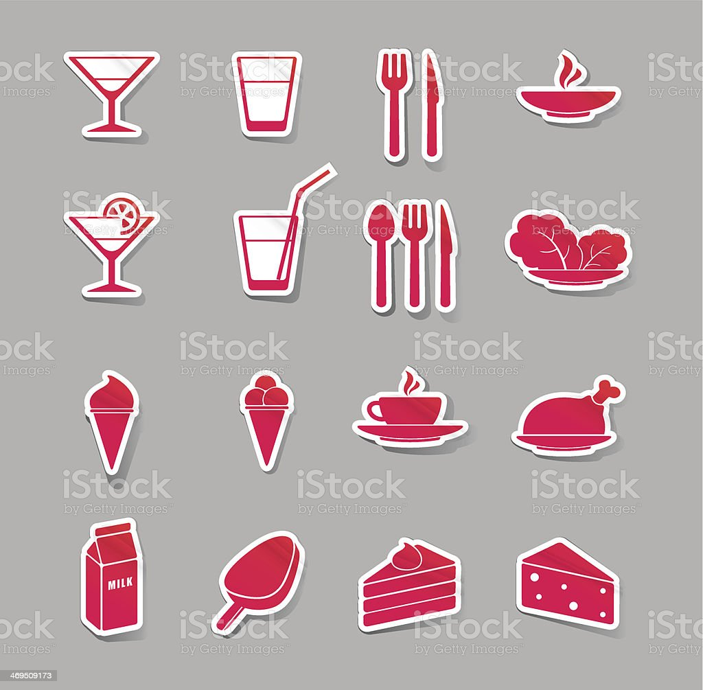 food and drink icons royalty-free stock vector art