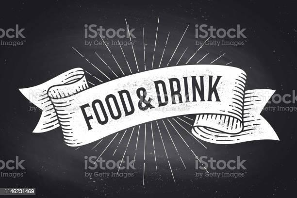 Food and drink old school vintage ribbon banner vector id1146231469?b=1&k=6&m=1146231469&s=612x612&h=yqzudlgpeewkqsxfe5uyxmelmutcxnvdmscybhnjck4=