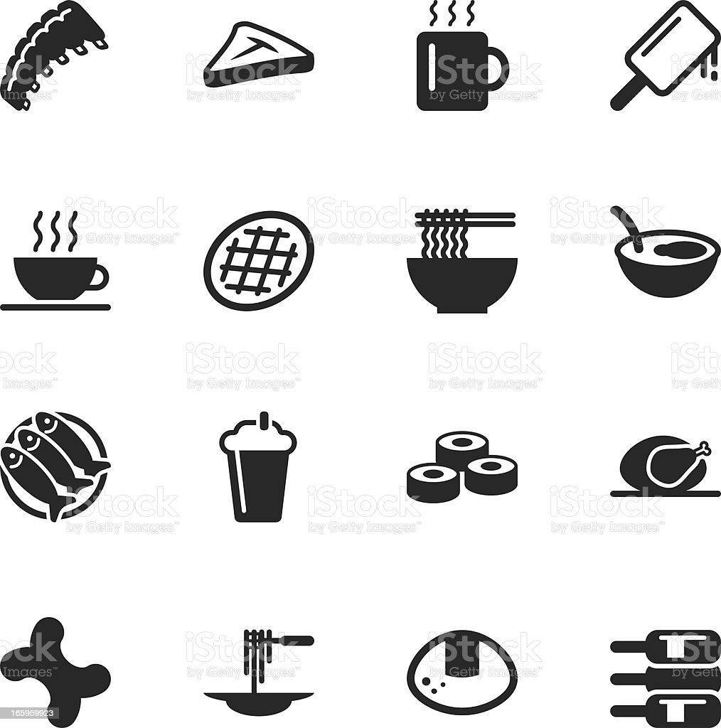 Food and Drink Silhouette Icons | Set 2 royalty-free food and drink silhouette icons set 2 stock vector art & more images of alcohol