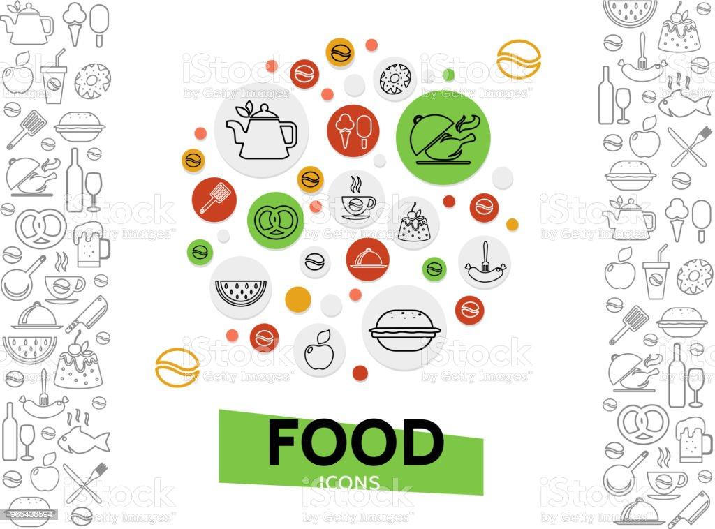 Food And Drinks Template food and drinks template - stockowe grafiki wektorowe i więcej obrazów arbuz royalty-free