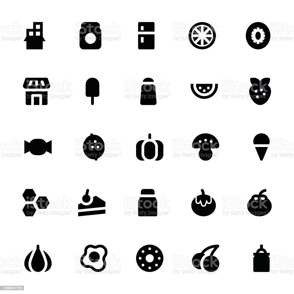 Food and Drinks Vector Icons 3 vector art illustration