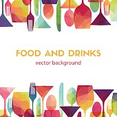 Food and drinks. Vector illustration