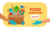 istock Food and grocery donation 1223169247