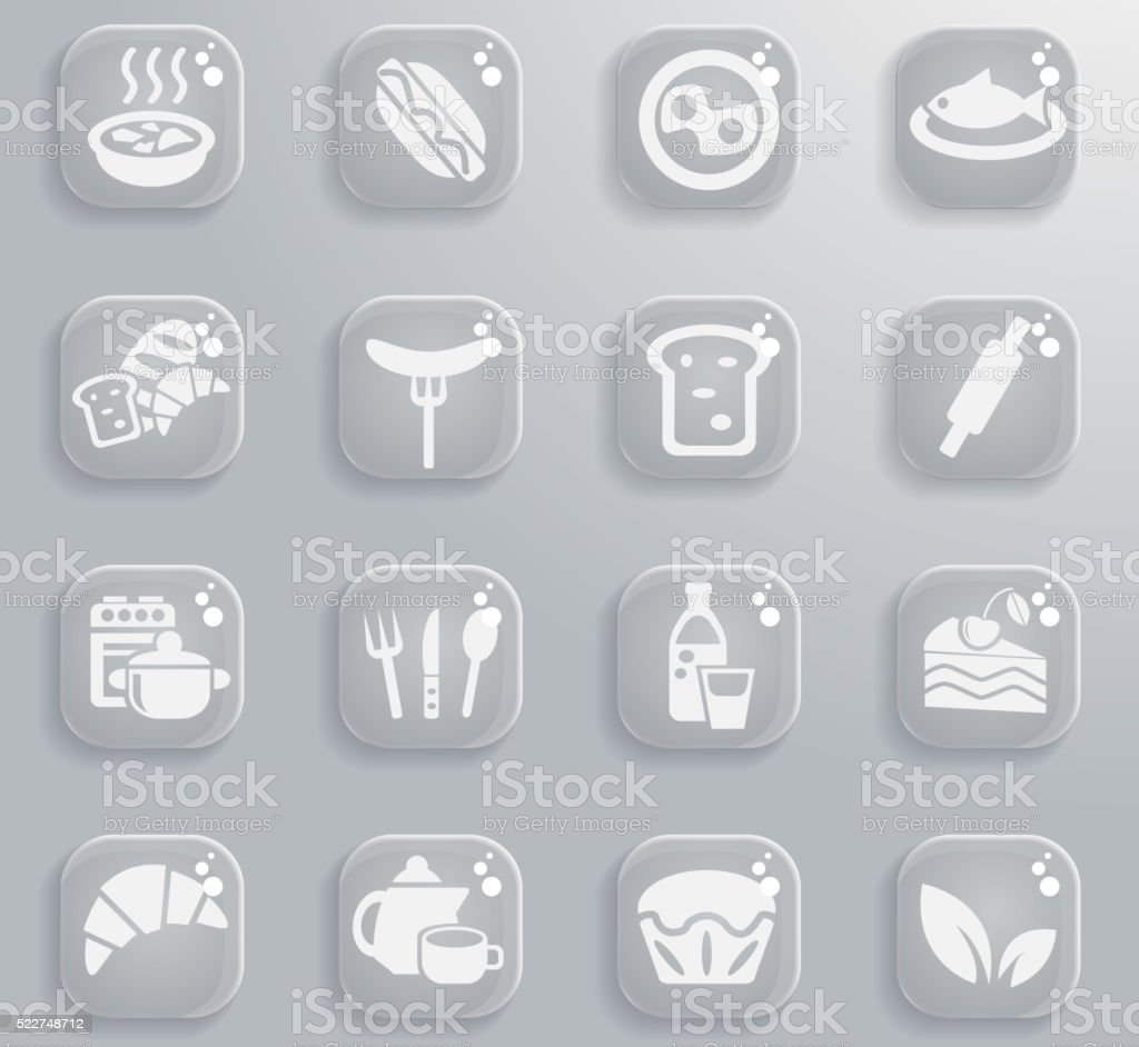 food and kitchen icon set