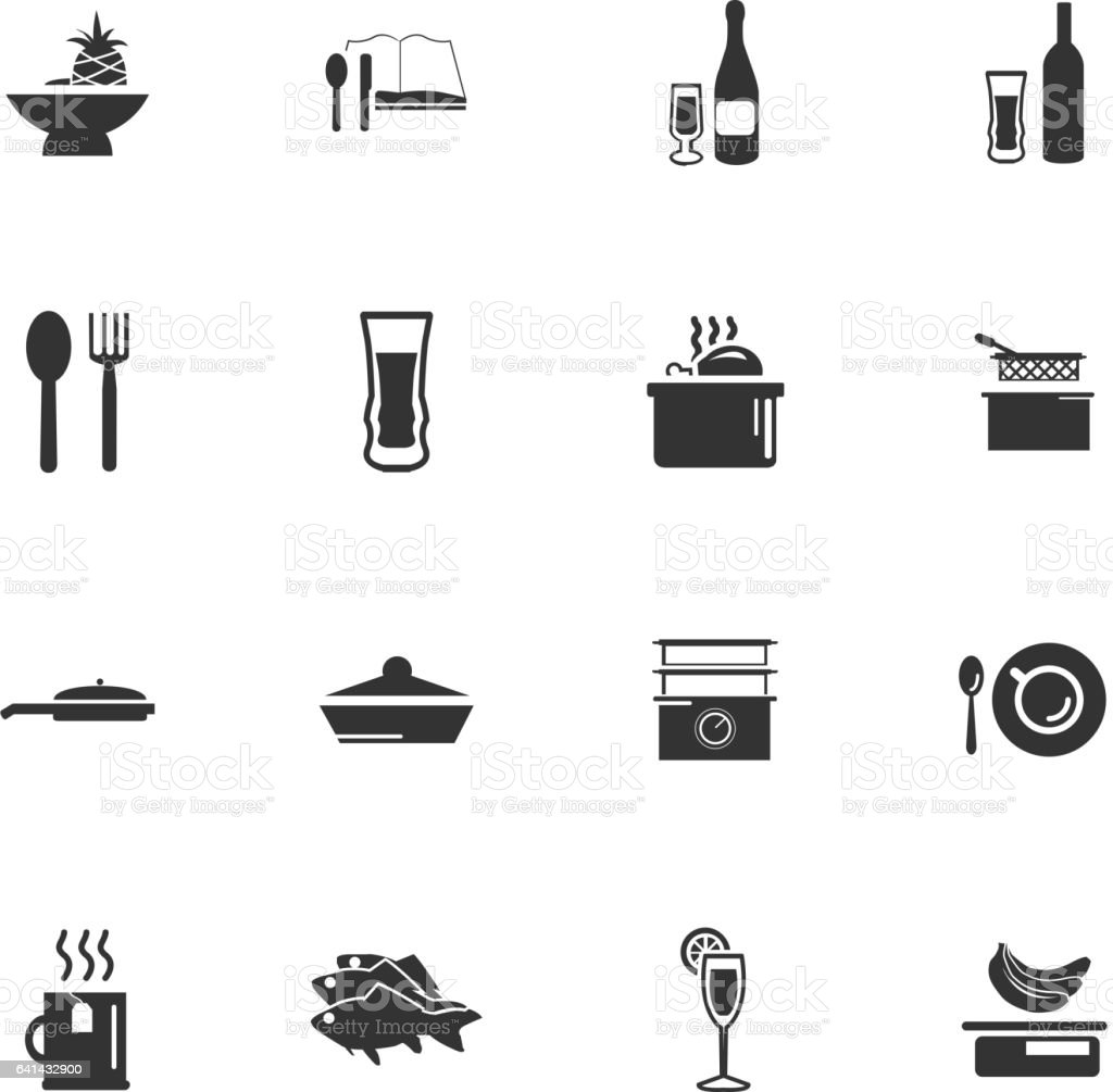 Food And Kitchen Icon Set Stock Illustration Download Image Now