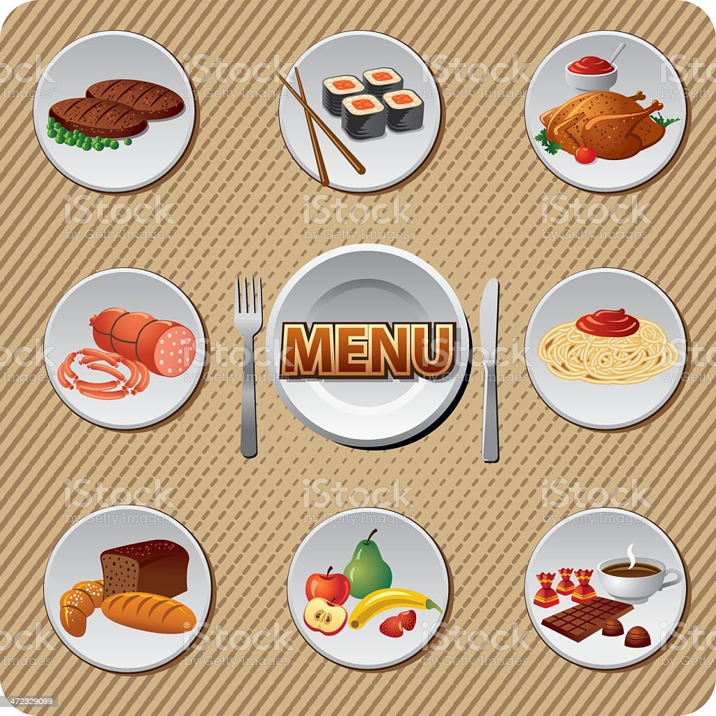 food and meal menu royalty-free food and meal menu stock vector art & more images of apple - fruit