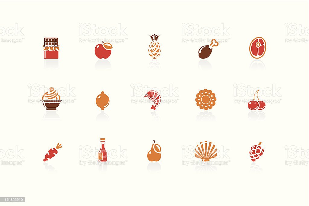 Food and Restaurant icons   Sunshine Hotel series royalty-free stock vector art