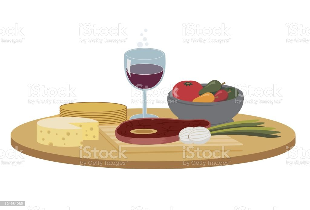 Food and Wine royalty-free food and wine stock vector art & more images of cheese